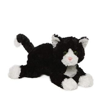 "14"" white and black Cat Stuffed Animal Plush Toy cat plush toy for kids Soft Animal Cartoon Toy"