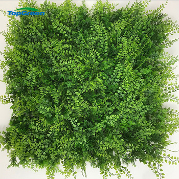 Wholesale Artificial Plastic Green Plants Wall Hanging Artificial leaves