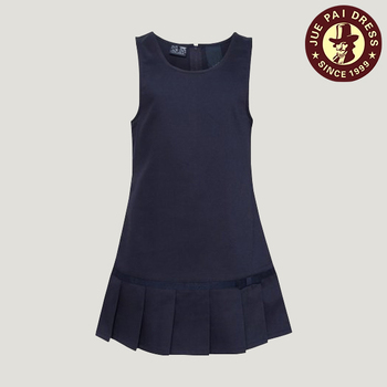 School Girls Pleated Dress Uniform, Navy Blue School Uniform Jumper