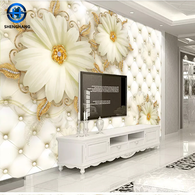 Details about  /3D Gold Flower Frame Decal Wallpaper Decal Decor Home Kids Nursery Mural  Home