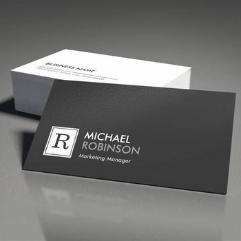 Black and white Business Visiting Cards With custom printed logo