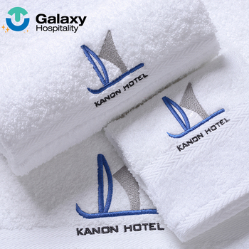 Luxury white custom logo towels compressed egyptian cotton hand face custom hotel bath beach towel