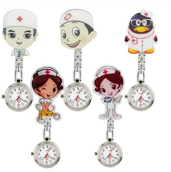 2019 Pendant Stylish cartoon animal design glow in the dark nurse fob watch