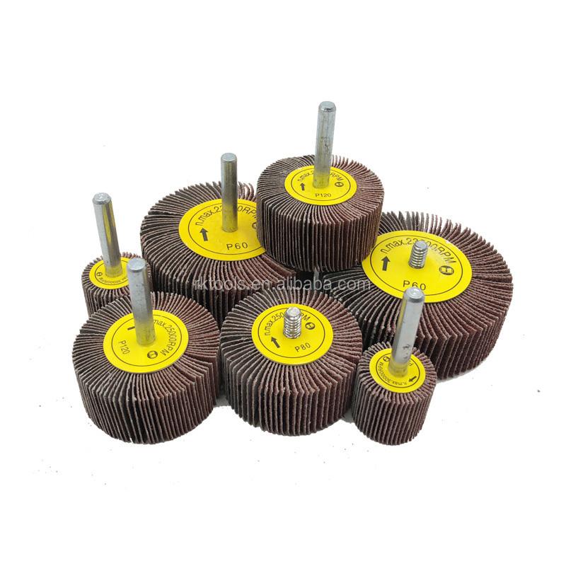 Lot de 5 roues /à lamelles en oxyde daluminium pour enlever la rouille le meulage et le polissage 50 x 25 x 6 l/ébavurage grain 60