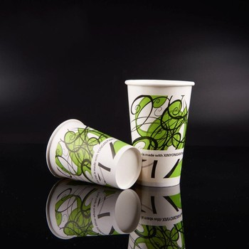 New Products Green Lines Paper Cups With High-Quality Disposable For Drinking