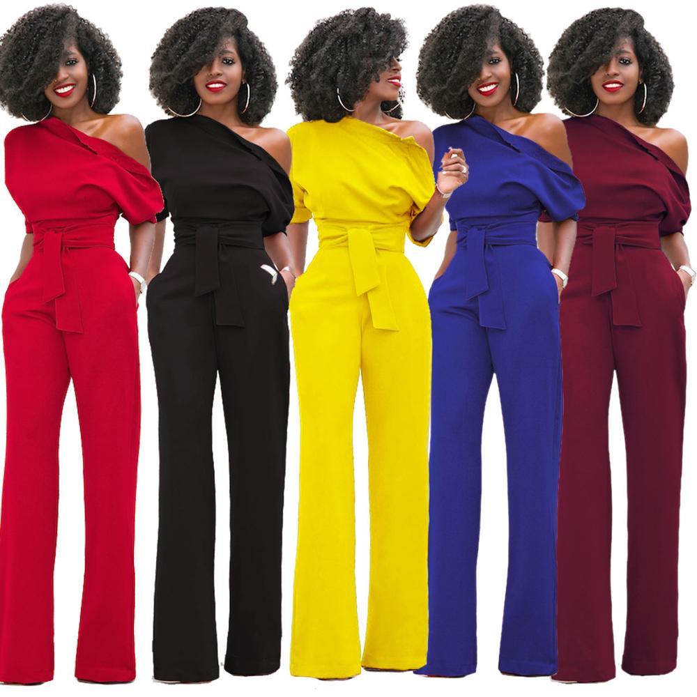 Womens Wide Leg Trouser Jumpsuit Romper Fashion Winter Playsuit Party Long Pants