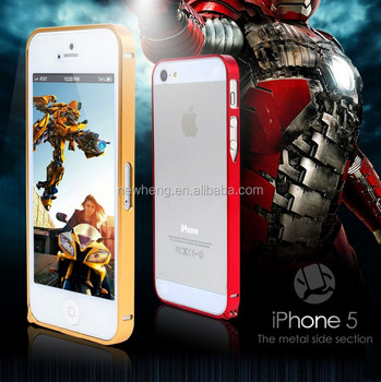 Aluminum frame case for iphone 5 5S mobile phone cover for iphone 5S bumper case