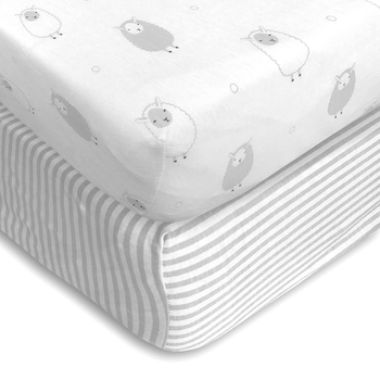 healthy Material 100% Cotton Queen Size Fitted Crib Sheet Soft-Fit Fitted Crib Sheet