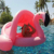 factory newest hot selling top quality ride-on summer swimming multi-function flaming inflatable baby float with sunshine shades