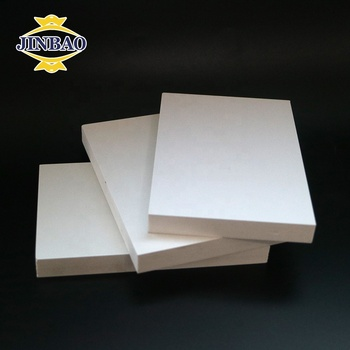 JINBAO manufacturer 20 mm 30 mm 40mm white forex sintra foam board PVC 1220x2440mm use for custom furniture door window use