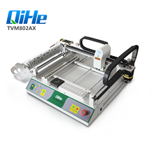 QIHE TVM802A- <strong>X</strong> LED bulb assembly line with 29 feeders Desktop Pick and Place Machine
