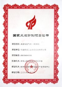 National torch project certificate