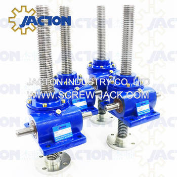 higher efficiency and greater speed JTM25 25kn industrial hand crank leveling jack for small manual worm drive systems