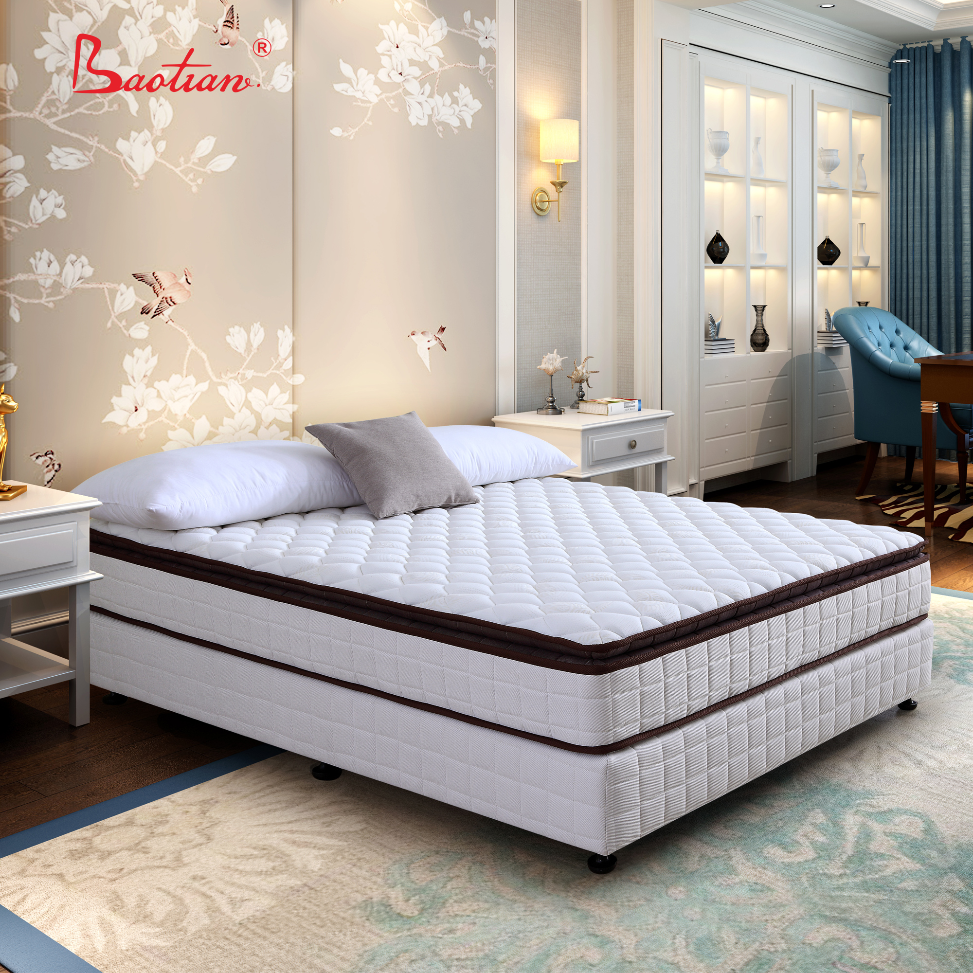 5 Star Hotel Bed Mattress With Memory Foam Pillow Top Or Living Room Sleepwell Pocket Spring Mattress Bedroom Furniture Factory Buy Compress Spring Mattress Bed Mattress Sleepwell Mattress Product On Alibaba Com