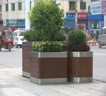 tall modern luxury garden wooden square big size decorative plant pot planters