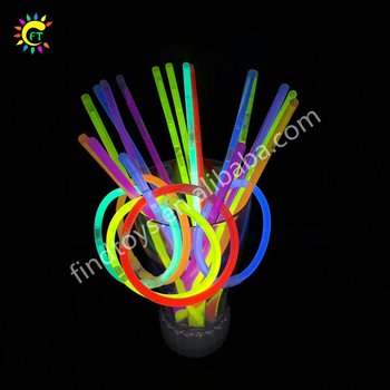 Flashing 8 inch party glow bracelets bulk glow in the dark neon sticks Christmas party pack