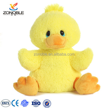Factory customized cuddly soft yellow stuffed duck plush animal