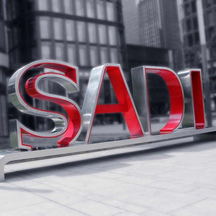 Big 3D letter