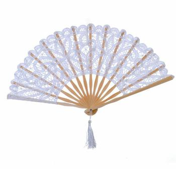 [I AM YOUR FANS]Handmade 100% Cotton 27cm 23cm Lace hand fan 13colors for choice