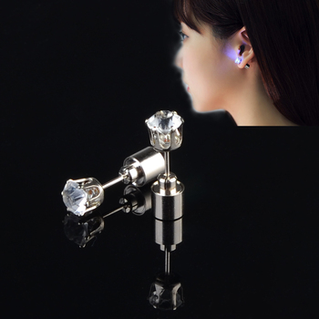 Wholesale 8 designs party led earrings cheap price christmas earrings light up