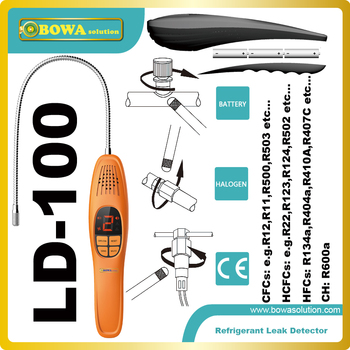 Popular Leak detectors for detecting all halogenated refrigerants, including R404a, R407c, R134a, R22, R600a, R410a, etc