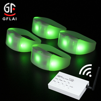 New Products 2020 Innovative Product Glow In The Dark Silicone Bracelet with Remote Controller