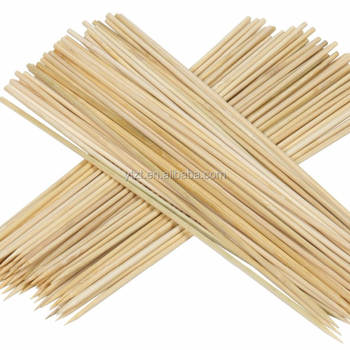 "factory directly offer kebab bags bamboo wooden 500 skewer sticks 6"" for food"