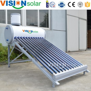 Rooftop Compact Vacuum Tube Mini Solar Water Heater