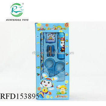 School stationery set for promotion,popular cheap kids wholesale stationery