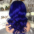 Short Blue Brazilian Hair Wig Lace Wig Vendors Full Lace Human Hair Wigs With Baby Hair For Black Women