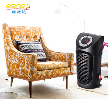 Small Low Noise Desktop PTC Fan Heater Plug In Wall Heater with Remote Control