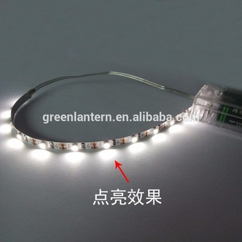 1M/2M/3M/5M 3 x AA RGB led strip with battery pack 60leds/m DC 5v 3528 SMD LED Ribbon flexible tape neon home decoration