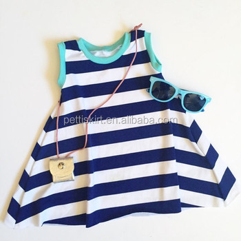 Girls party summer wear casual dress baby dress cutting children girls cotton frocks designs