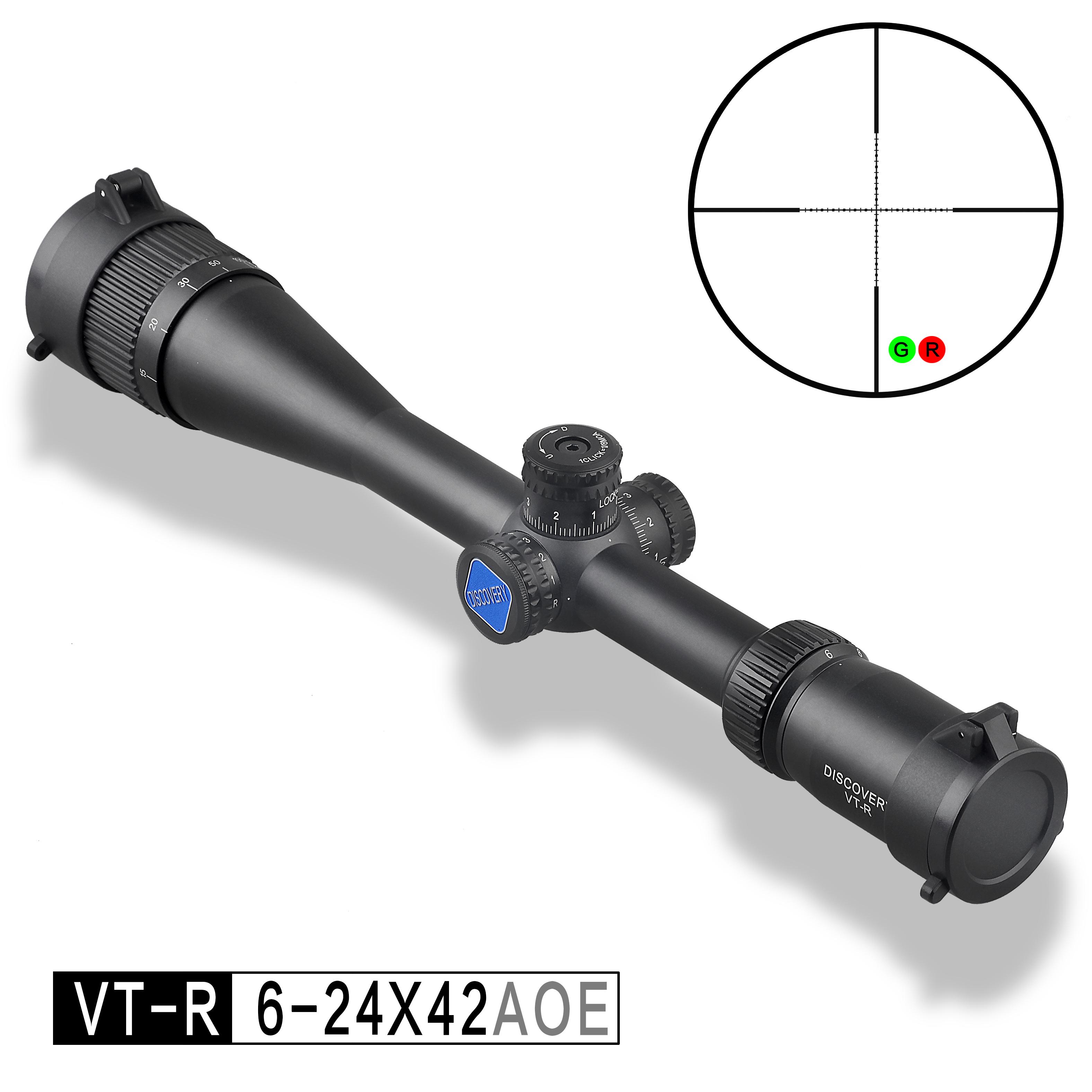 DISCOVERY VT-R 6-24x42AOE Zero Lock Shock Proof Hunting Rifle Scope Sight