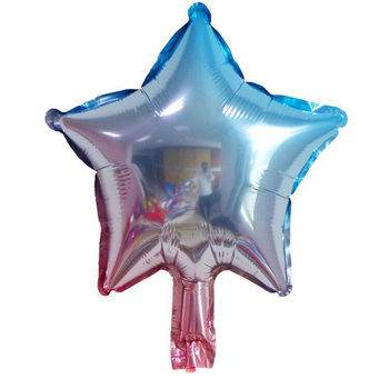 Wholesale Suppliers 10 inch Pentagram Foil Ballons Small Size Gradient Blue Balloon For Baby Shower
