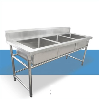 Commercial kitchen equipment stainless steel sink for sale