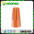 P3 1000Pcs Wire Connectors Orange Screw On Nuts Standard Type Twist On Barrel