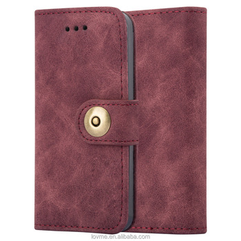 Leather Mobile Wallet Phone TPU Cover for Apple iPhone 5s 5C Card slots Protective case