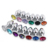 3pcs/set colorful stainless steel crystal metal anal plugs