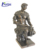 Wholesale custom antique metal craft casting art sculpture nude bronze self made man statue for sale