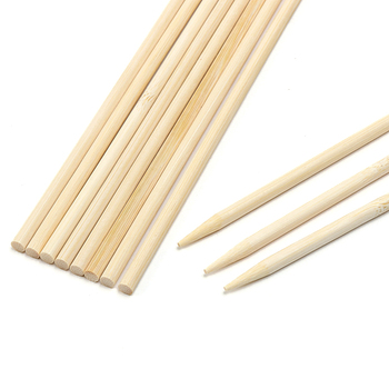 Natural Bamboo Skewers for Bbq Kebab Fruit Chocolate Fountain Wooden Sticks 30cm