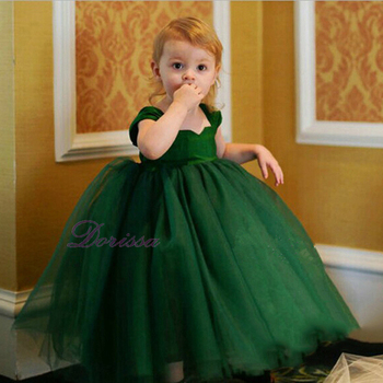 flower girl dresses image Children Party elsa queen dress baby frock design cutting
