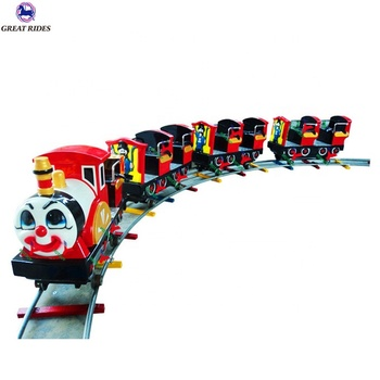 Good earning machine funfair battery operated electric Thomas mini track train kids amusement rides for sale