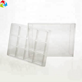 Clear Disposable Transparent Plastic Candy Box With Insert Tray