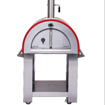 Outdoor Full Stainless Steel Mobile Wood Burning Pizza Oven