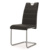 Hot sale modern U shape synthetic leather bow chair sillas de comedor pu leather with chrome metal legs