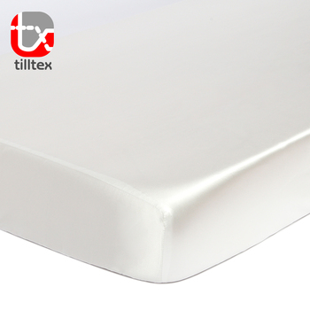Bright white emulation silk stretch baby bedding satin baby crib sheets