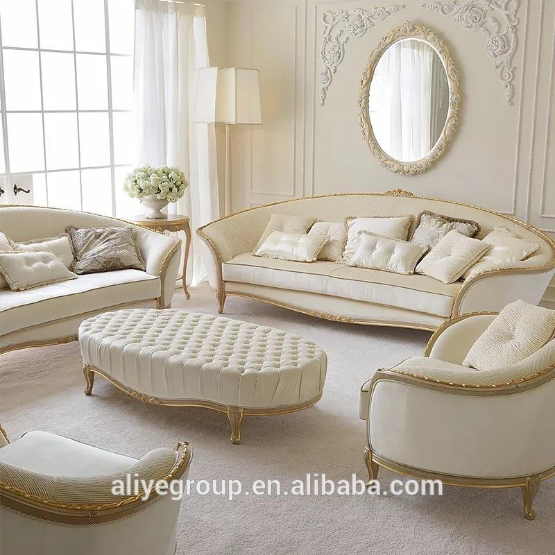 Luxury Living Room Furniture Sofa Set And Gold White Fabric Living Room Sofa Set - Buy Formal Living Room Furniture Sofa Set,Royal Furniture Sofa Set,Luxury Living Room Fabric Sofa Set Classic Wood