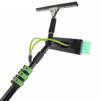 12FT water fed pole brush for window cleaning equipment with long telescopic handle