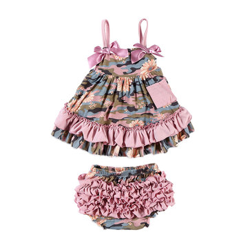 New design baby clothes set ,girl summer clothes ,girls dress swing top set